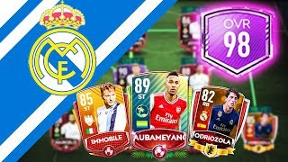 INSANE 98 FULL REAL MADRID TEAM UPGRADE! + TIME TO INVEST!!! FIFA MOBILE 20