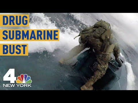 Incredible  Shows US Coast Guards Busting Drug-Smuggling Submarine  NBC New York