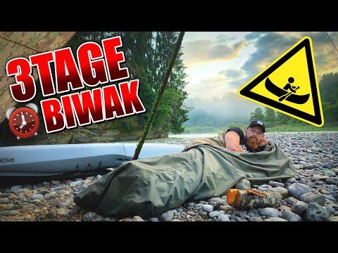 3Tage BIWAK mit Kajak - Bushcraft kochen Tarp Overnighter Übernachtung   Fritz Meinecke