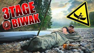3Tage BIWAK mit Kajak - Bushcraft kochen Tarp Overnighter Übernachtung | Fritz Meinecke