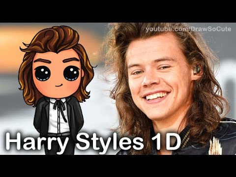 how to draw chibi harry styles from one direction perfect step by step youtube