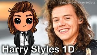 How to Draw Chibi Harry Styles from One Direction