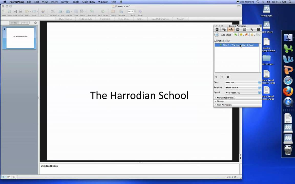 Powerpoint Mac 2008 How To Animate Text