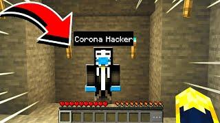 I joined the CORONA HACKER world in Minecraft..