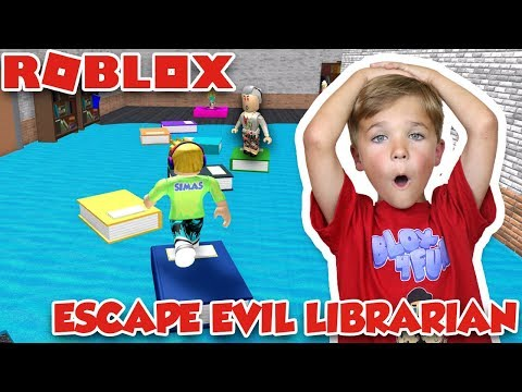 THE LIBRARIAN IS EVIL! WE MUST ESCAPE THE LIBRARY OBBY in ROBLOX