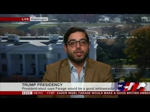 Raheem Kassam says Nigel is the best man for Ambassador to The United States