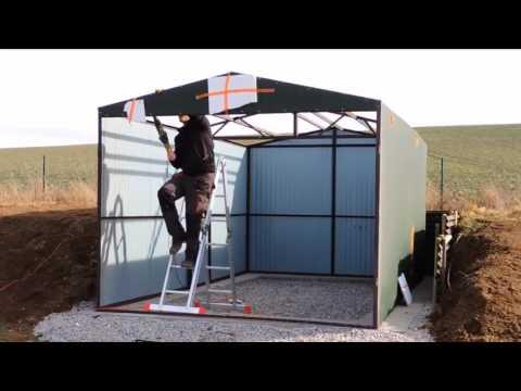 AWAK-SHEDS - Metal garage assembly