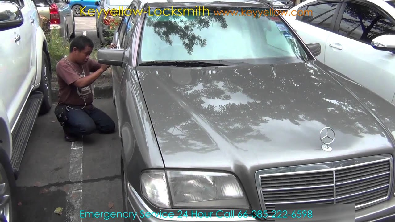 locksmith unlock car door mercedes benz c220 youtube. Black Bedroom Furniture Sets. Home Design Ideas