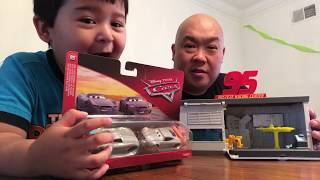 Matts playtime.  Toysreview is Cars 3 Rusteze Eze Quick change garage