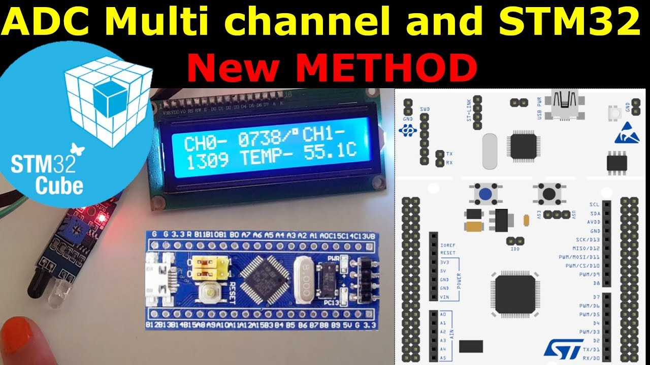 STM32 ADC multiple channels || HAL || True studio || CubeMx