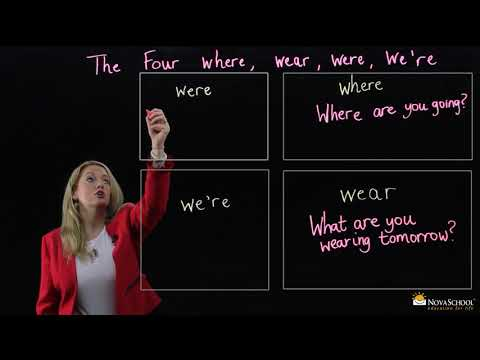 How To Use  Where, Wear, Were, And We're