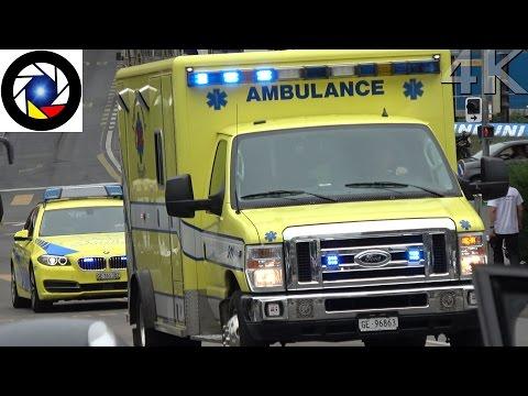 Ambulance and Doctor Car Geneva // Ambulance 911 et SMUR 12 Genève