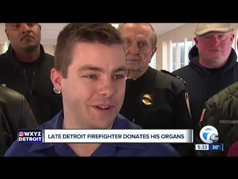 Veteran Detroit firefighter who died on the job gives the gift of life