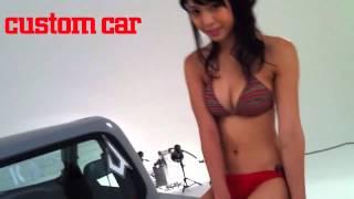 カスタムCAR 2012年9月号のカバーガールは、スレンダーだけどナイスバデ...