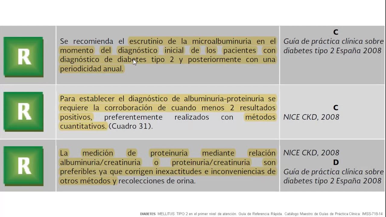 niveles de microalbúmina y diabetes