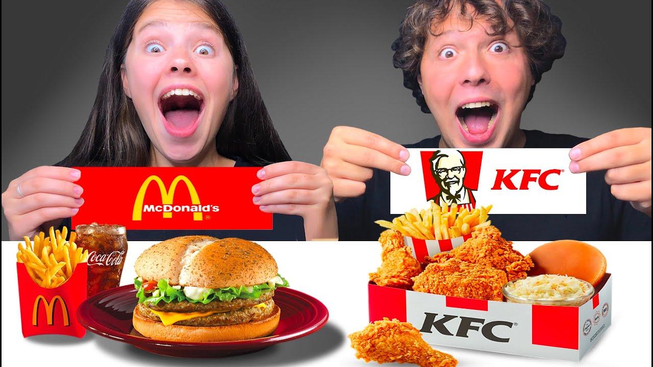 ASMR MCDONALDS VS KFC CHALLENGE! MUKBANG EATING SOUNDS Tati ASMR