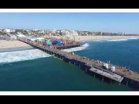 Santa Monica Pier - Drone Aerial Filming Services - Los Angeles