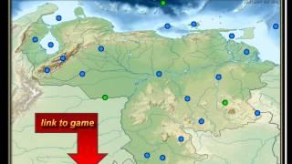 physical map of Venezuela, free exercise, Isla Margarita, Orinoco, Angel Falls, Caribbean Sea