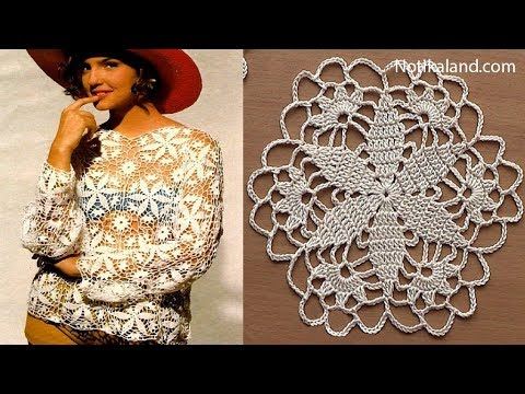 Crochet Pattern Crochet Motif For Blouse Tunic Part 60 YouTube Gorgeous Crochet Motif Patterns
