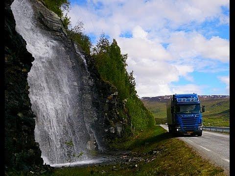 Trucking from Tromsø to Breivoll, Northern Norway