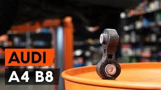 Hvordan udskiftes stabilisatorstag bag / stabstag bag on Audi A4 B8 Sedan [GUIDE AUTODOC]
