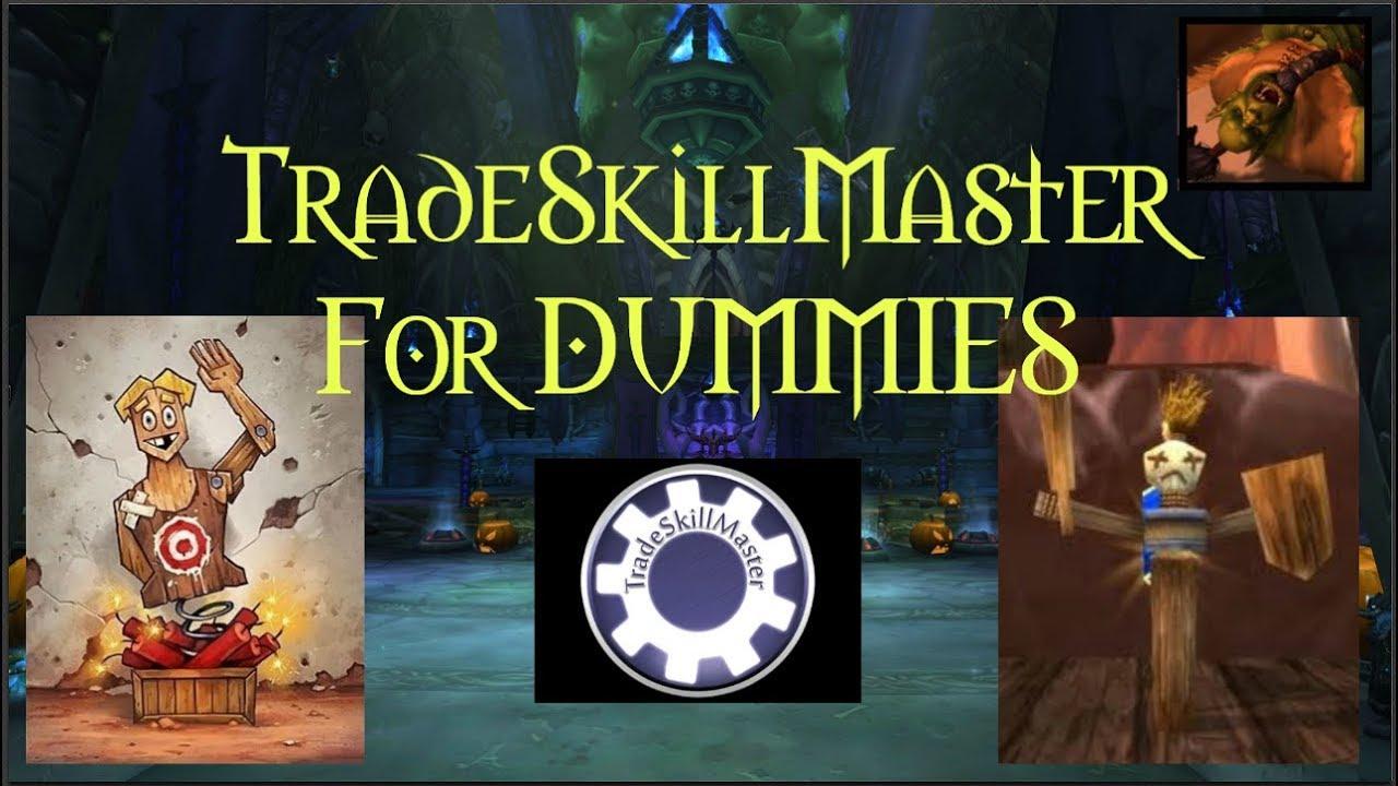 TradeSkillMaster (TSM) Groups & Operations Set Up FOR DUMMIES