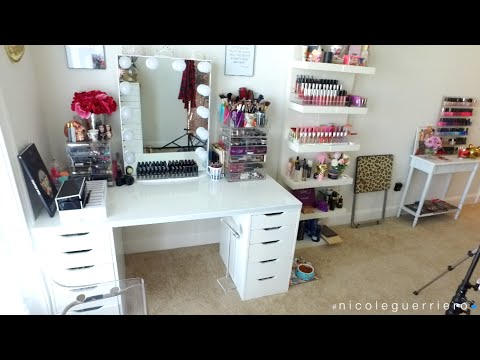 Beauty room studio tour nicole guerriero youtube for Salon rochepinard tours