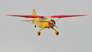 LARGE SCALE STINSON RELIANT - PAT CUSS AT LMA RAF COSFORD RC MODEL AIRCRAFT SHOW - 2014