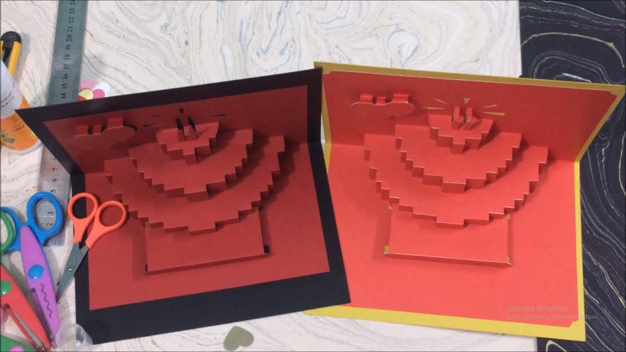 Diy Origami Card Diy Pop Up Card Origami Birthday Card Origami
