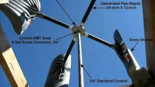 Alternative energy sources-wind power: Homemade windmill