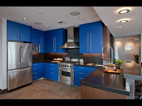 blue kitchen cabinets what color kitchen cabinets are in style - In Style Kitchen Cabinets