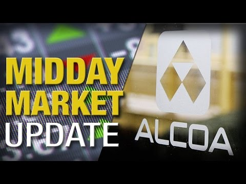 Stocks Slide as Fed Worries Continue; Alcoa Spikes