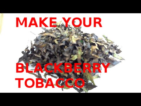 MAKE YOUR OWN NICOTINE FREE BLACKBERRY TOBACCO