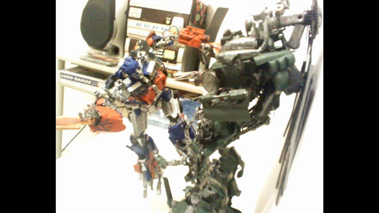 transformers custom optimus prime vs grindor - YouTube