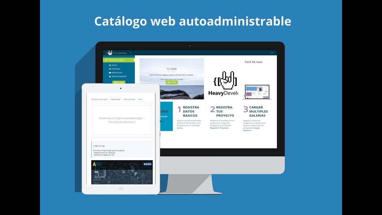 Sistema de catalogo web Gratis + manejador de contenido, codigo ...