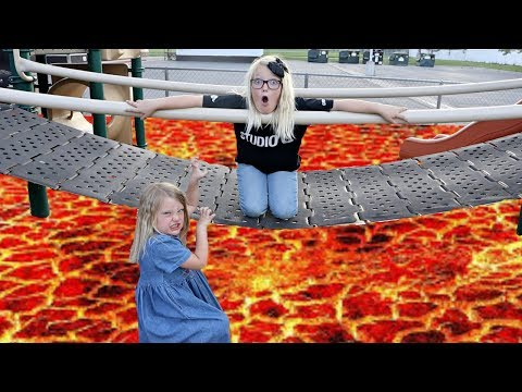 Lava Monster at a Park! No Boys Allowed