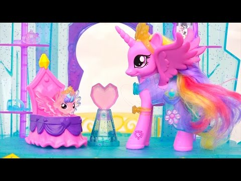 My Little Pony Crystal Castle ! Toys And Dolls Fun For Kids Pretend Play With MLP | SWTAD