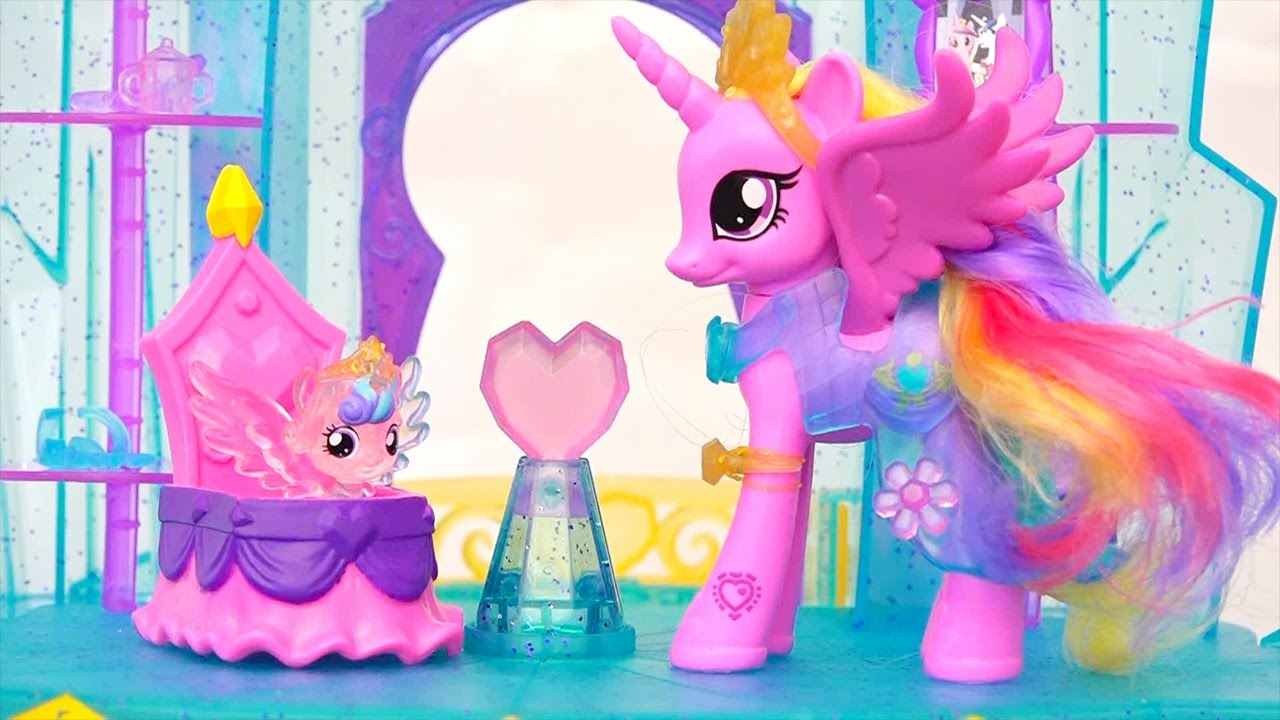 My Little Pony Crystal Castle ! Toys and Dolls Fun for ...