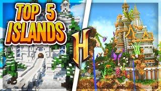 Top 5 Minecraft Hypixel Skyblock Islands Tours!