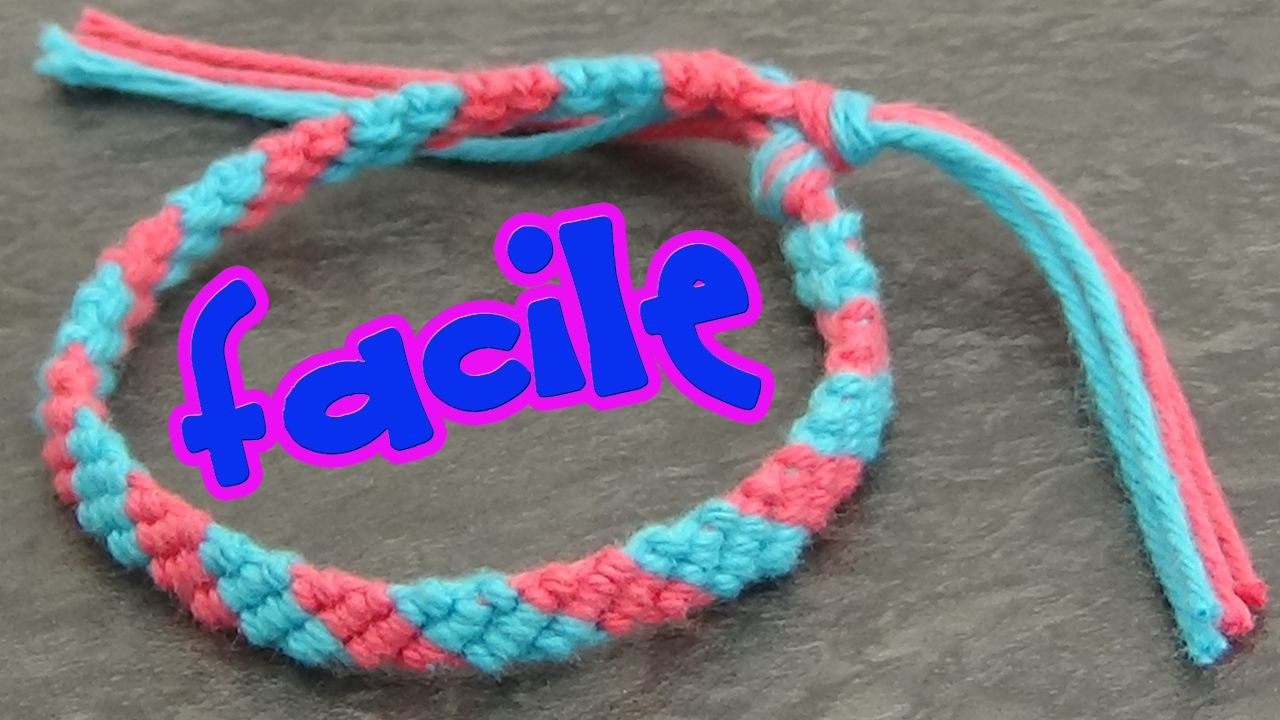 Bien-aimé Bracelet bresilien 2 couleurs (super facile) - YouTube SJ22
