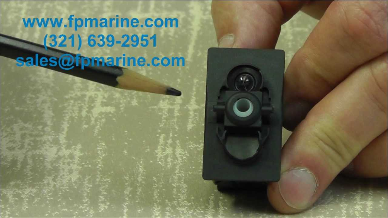Carling Rocker Switches Introduction Video wwwfpmarine  YouTube