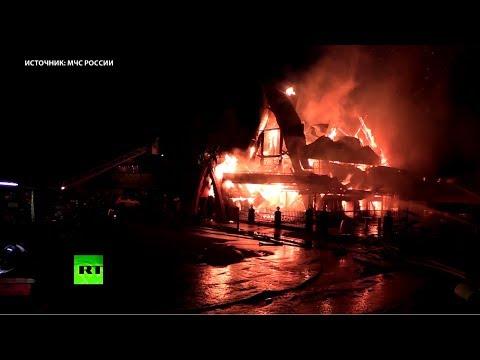 На западе Москвы сгорело кафе «Сахара»
