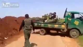 18+ Война в Сирии  Зенитка против танка. Уничтожение ЗУ-шки террористов