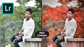 How to Edit MOODY Red in Lightroom Mobile // Dark Red Color Toning Effect in Lightroom