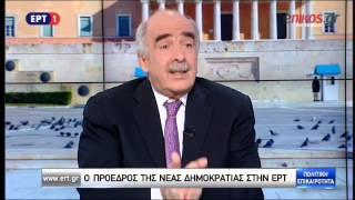Συνέντευξη του Βαγγέλη Μεϊμαράκη στην ΕΡΤ