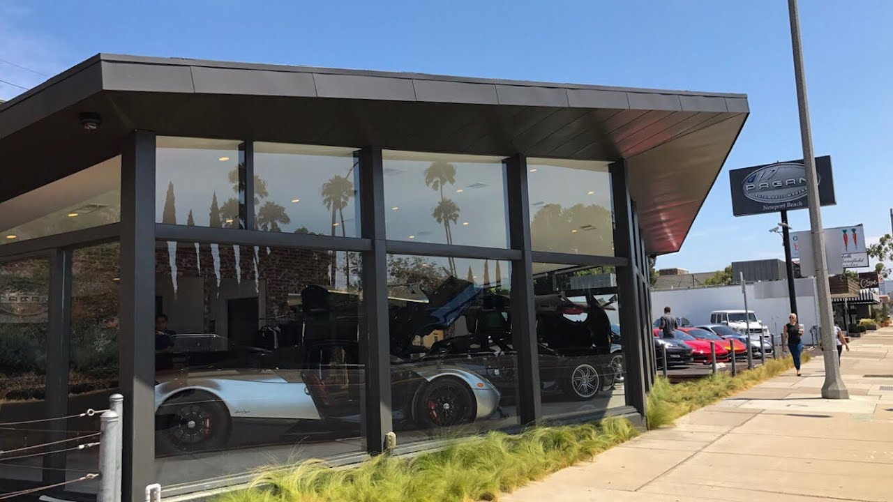 visiting the new pagani dealership in newport beach & a 1 of 1