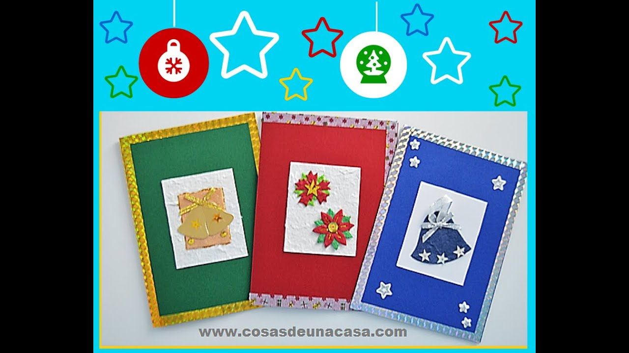 Tarjetas de navidad hechas a mano f ciles 2015 youtube - Como hacer tarjetas de navidad faciles ...
