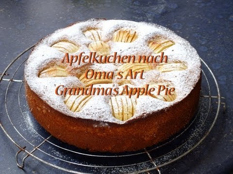 apfelkuchen nach omas art grandma 39 s apple pie youtube. Black Bedroom Furniture Sets. Home Design Ideas