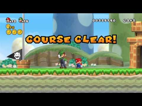New Super Mario Bros. Wii Two-Player Playthrough - World 1
