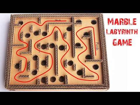 How to Make a Cardboard Box MARBLE LABYRINTH GAME - Teaser Clip